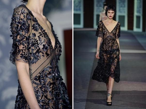 INSPIRATION: sheer black embellishment - image 3 - student project