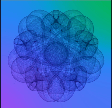 Mandala created with Processing 3 — Who knew math could be so much fun!! - image 1 - student project