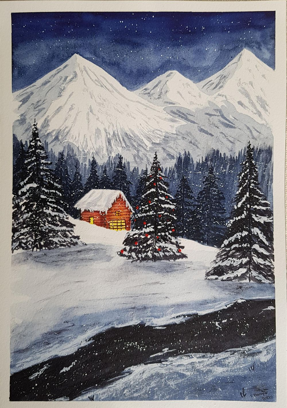 Snowy Christmas Night - image 2 - student project
