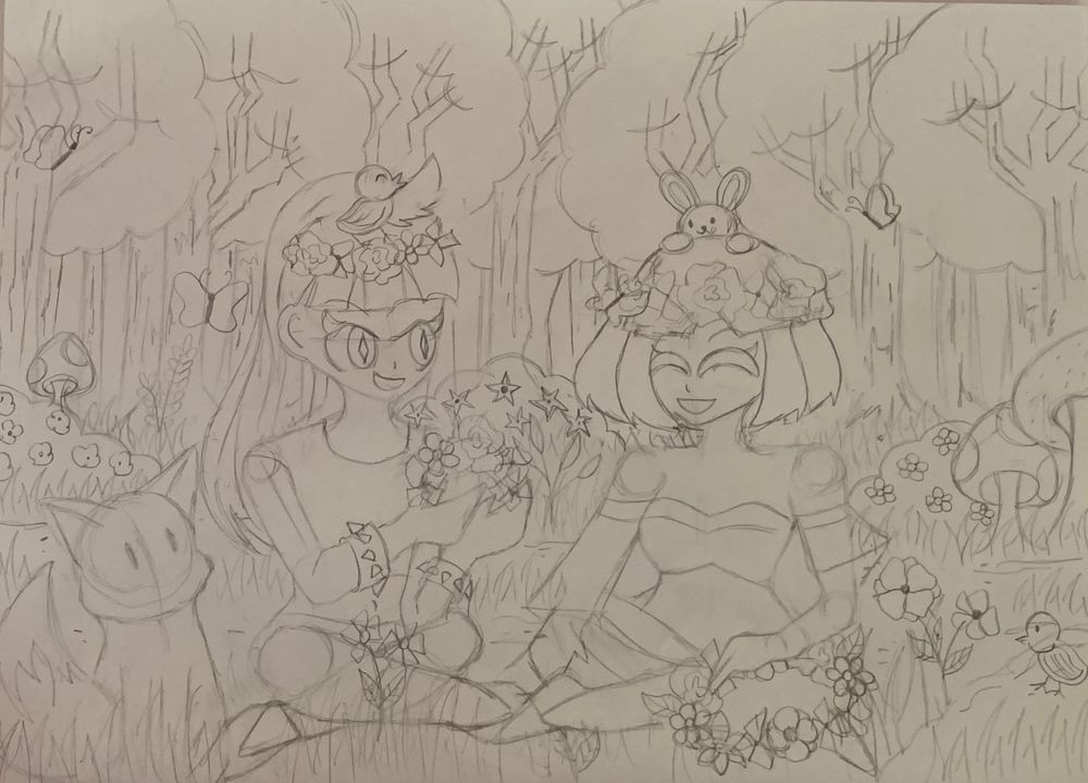 Making Flower Crowns in the Forest - image 5 - student project