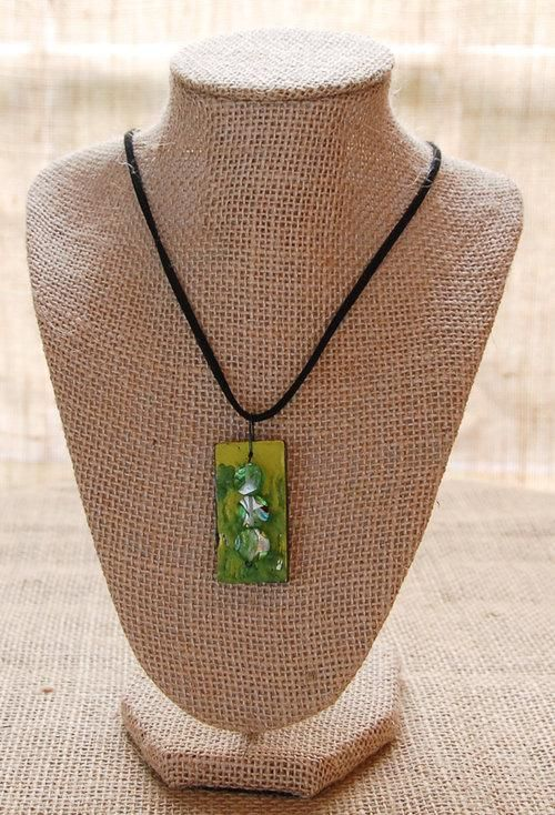 Encaustic Domino Necklace Pendant - image 1 - student project