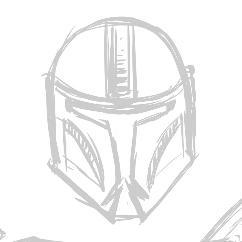 Mandalorian Helmet Concept - image 2 - student project