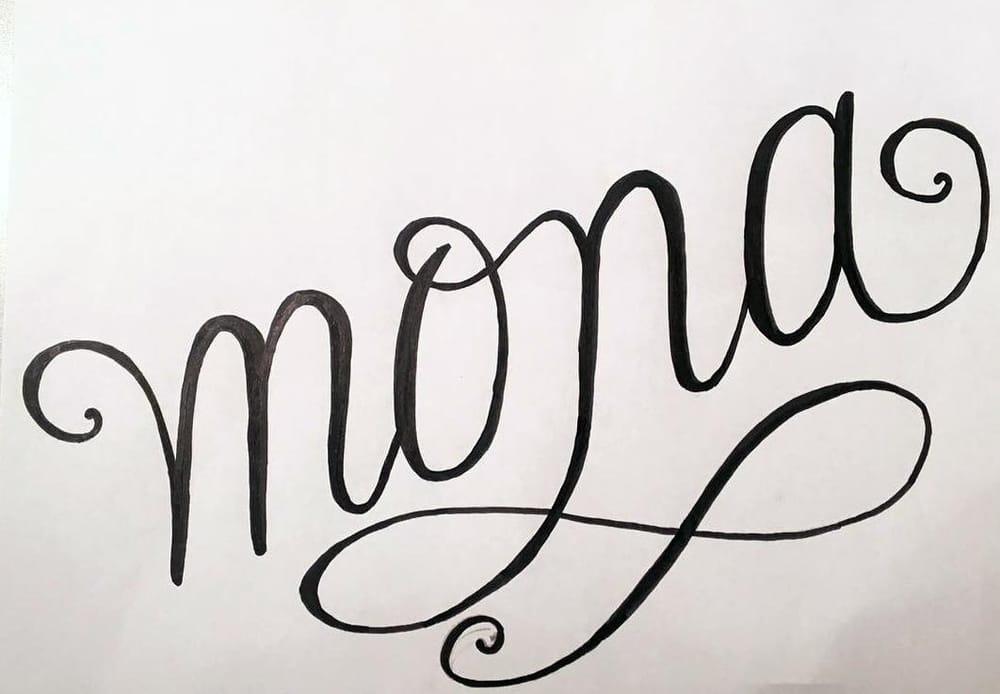 Handwriting Mona - image 2 - student project