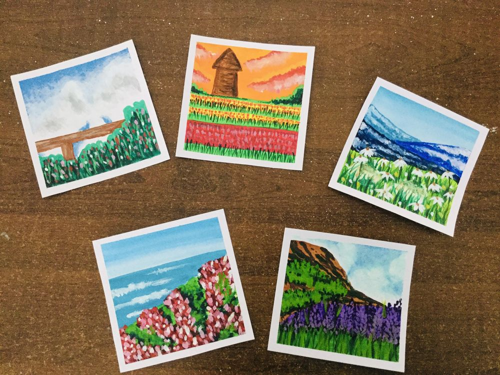 my first ever gouache projects !!!!! - image 1 - student project