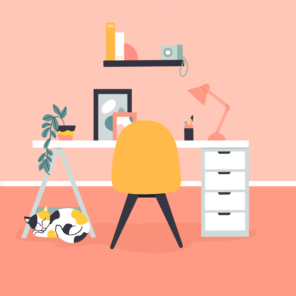 Colorful Home Office - image 1 - student project