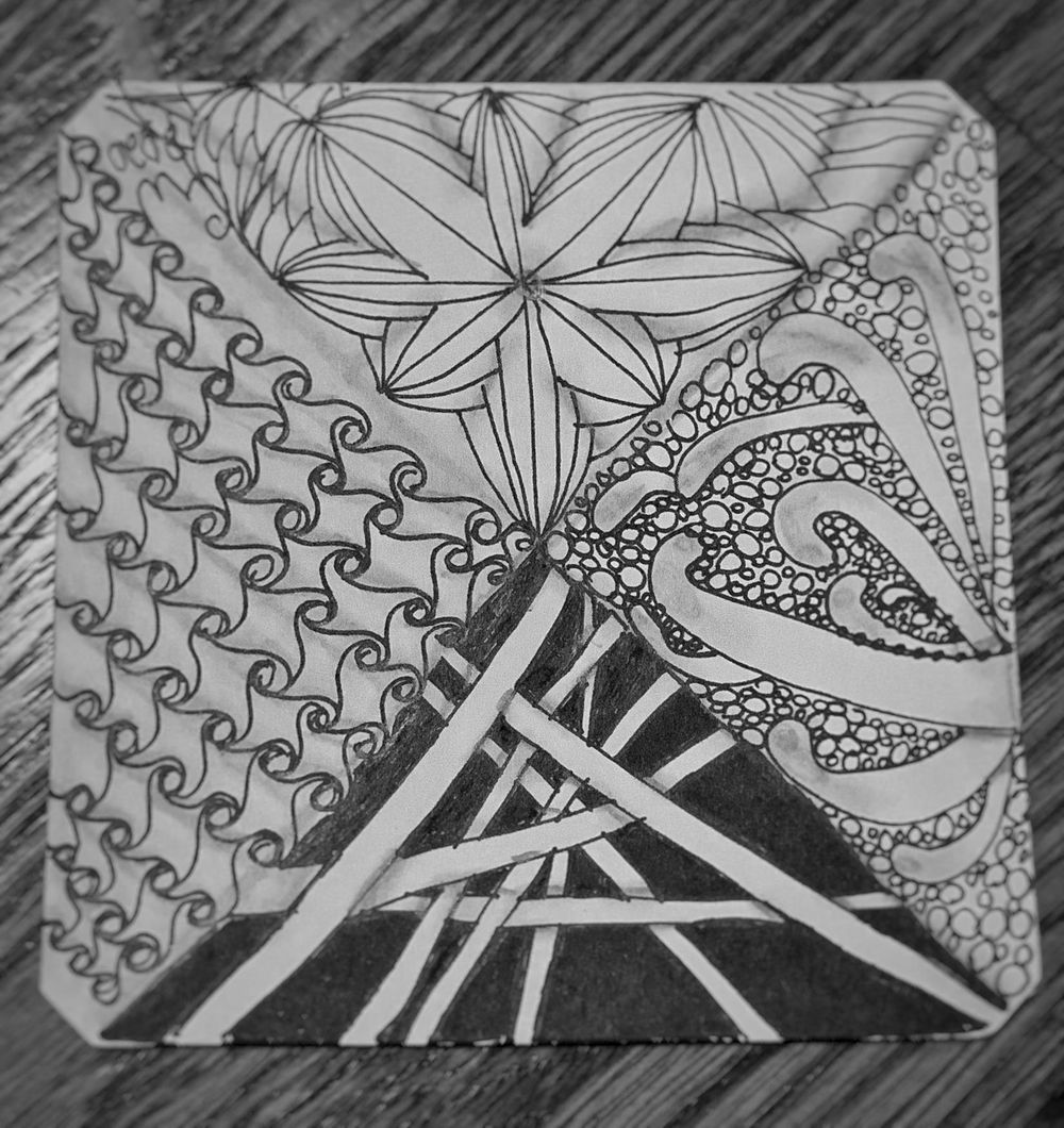 My first Zentangle Project - image 1 - student project