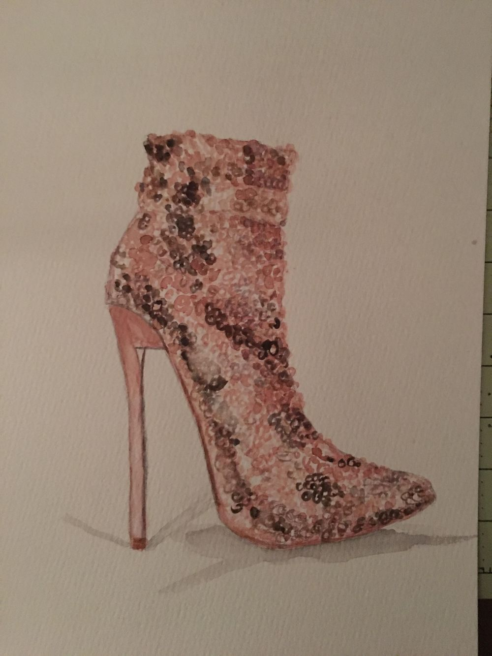 Basic Watercolor - Illustrate Shoes - image 3 - student project