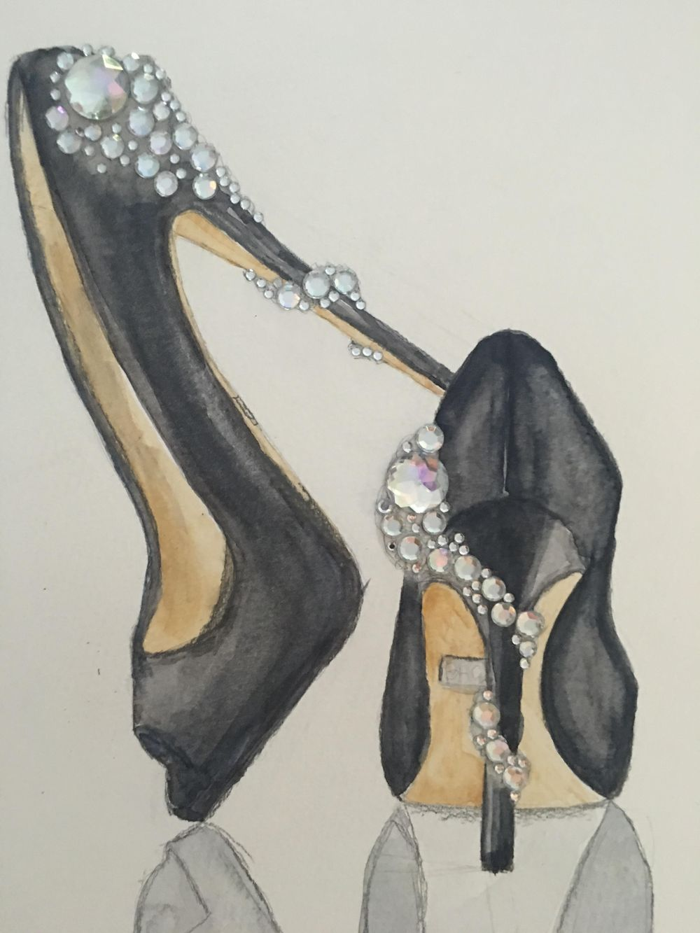 Basic Watercolor - Illustrate Shoes - image 1 - student project