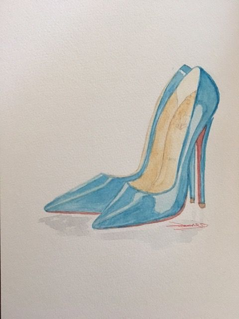 Basic Watercolor - Illustrate Shoes - image 7 - student project
