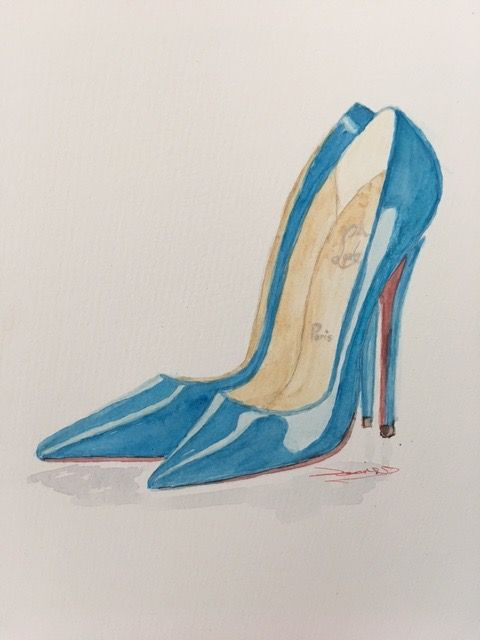 Basic Watercolor - Illustrate Shoes - image 8 - student project