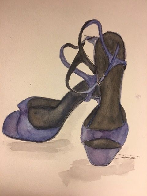 Basic Watercolor - Illustrate Shoes - image 6 - student project