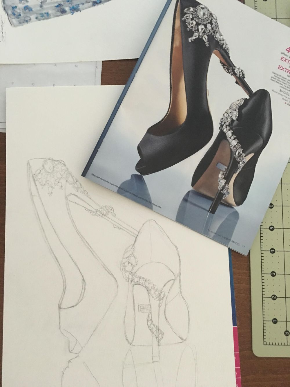 Basic Watercolor - Illustrate Shoes - image 2 - student project
