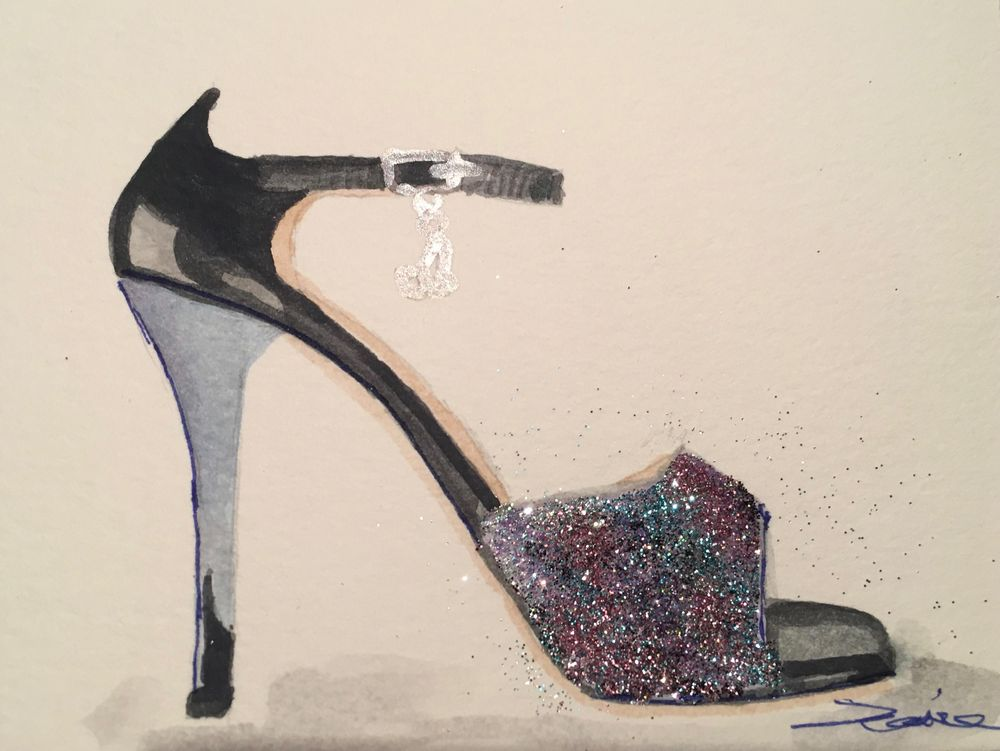 Basic Watercolor - Illustrate Shoes - image 9 - student project