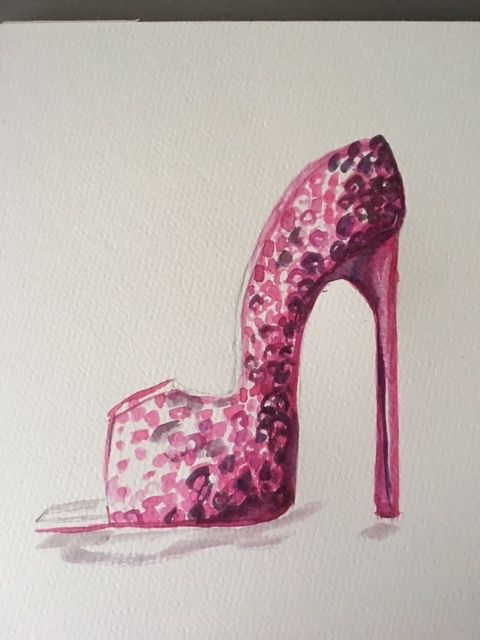 Basic Watercolor - Illustrate Shoes - image 5 - student project