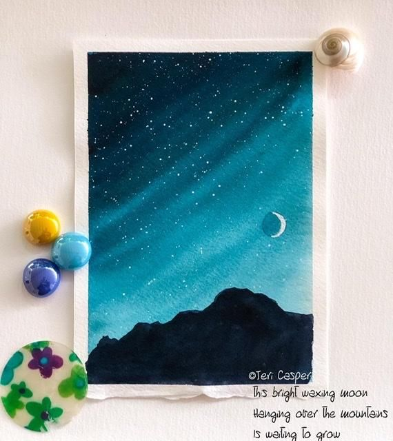 Classic night, Twilight night sky, Textured sky and Galaxy with printing - image 2 - student project