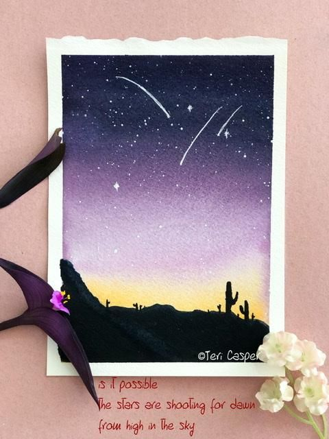 Classic night, Twilight night sky, Textured sky and Galaxy with printing - image 3 - student project
