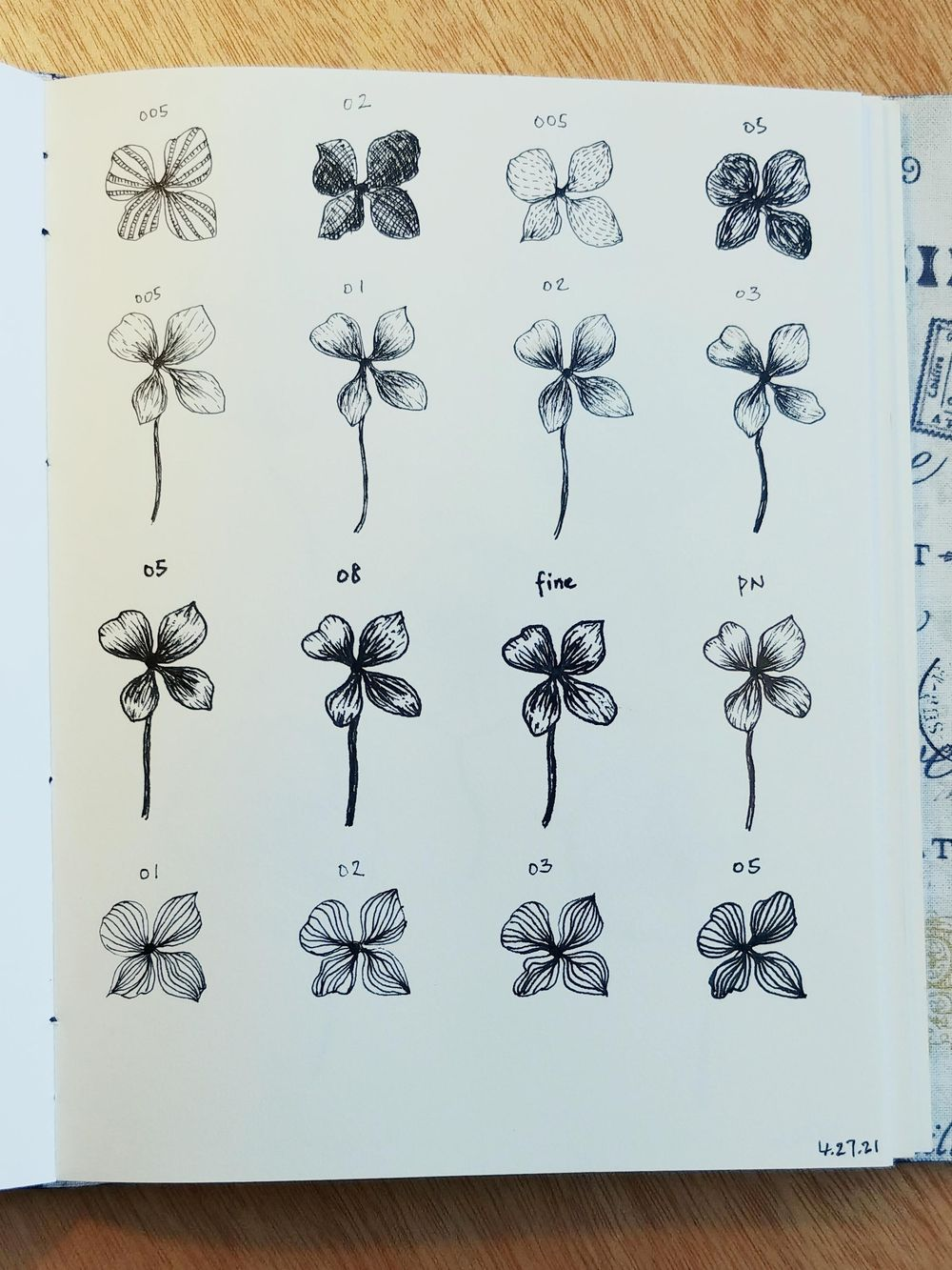 Line Drawings of Flowers | Virginia - image 2 - student project