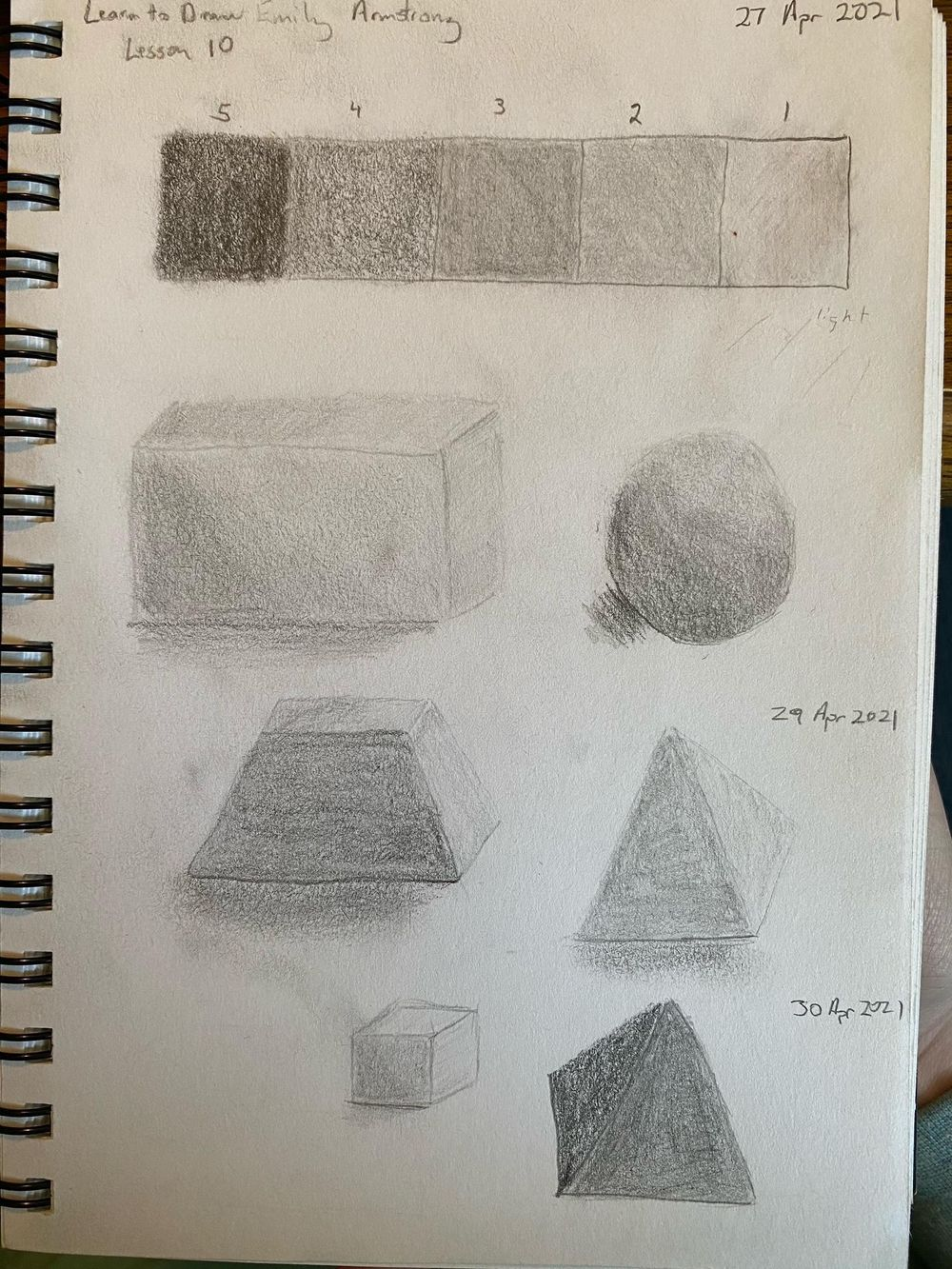 Learn to Draw: Complete Course - Exercises - image 2 - student project