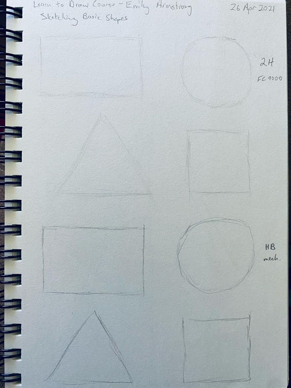 Learn to Draw: Complete Course - Exercises - image 3 - student project