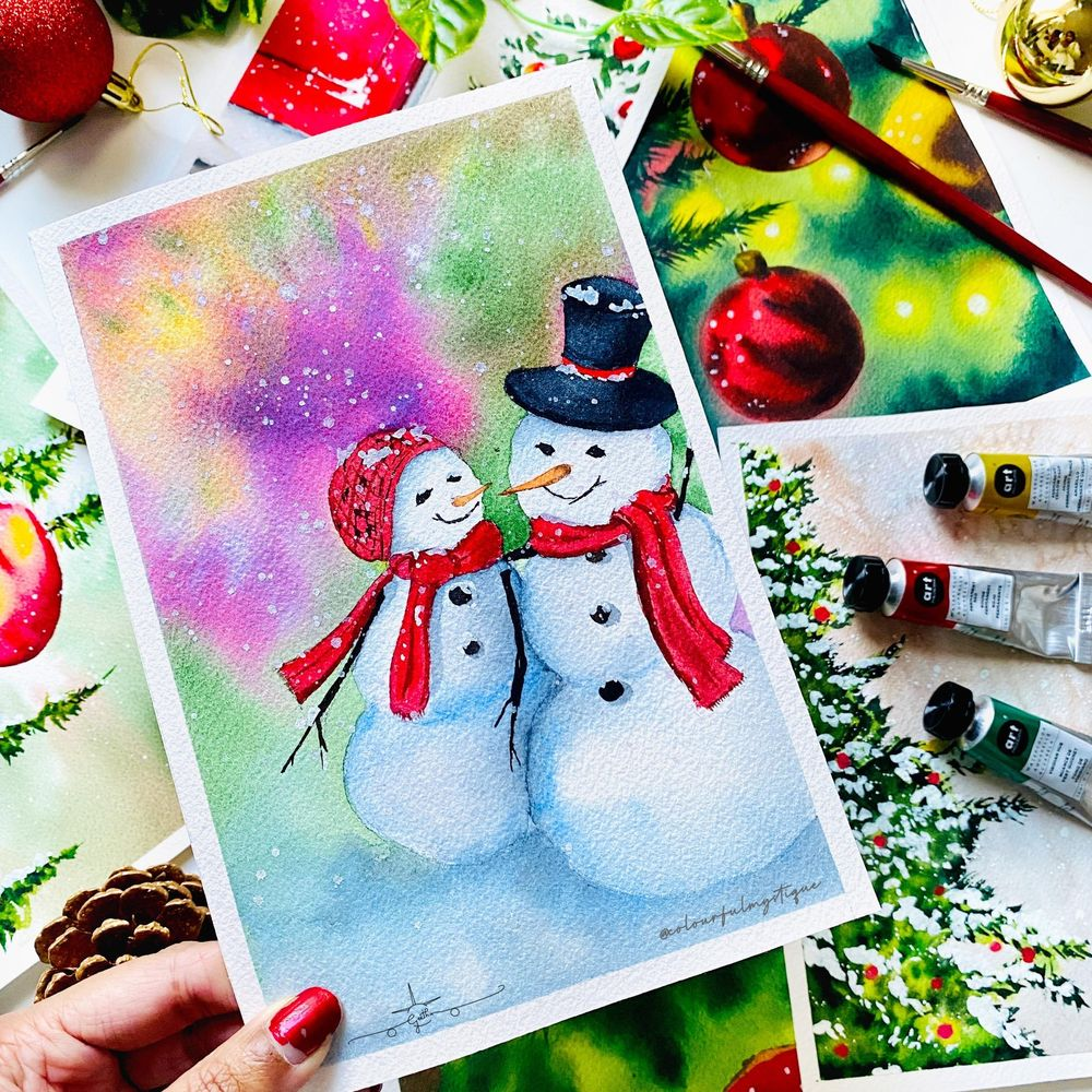 Countdown to Christmas with Watercolours - image 6 - student project