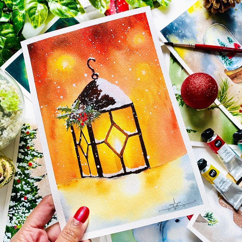 Countdown to Christmas with Watercolours - image 9 - student project