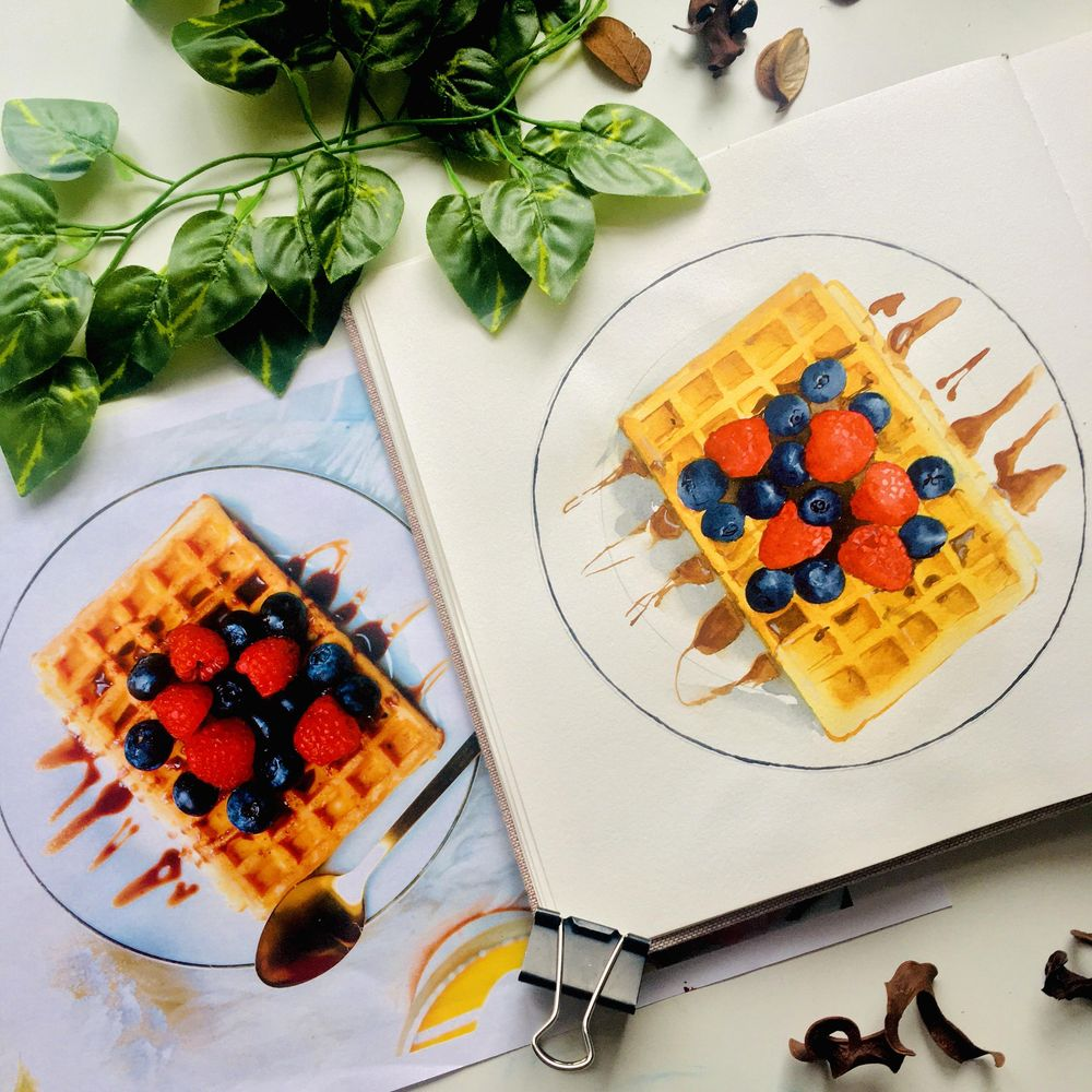 Food Illustration From Picture - image 2 - student project