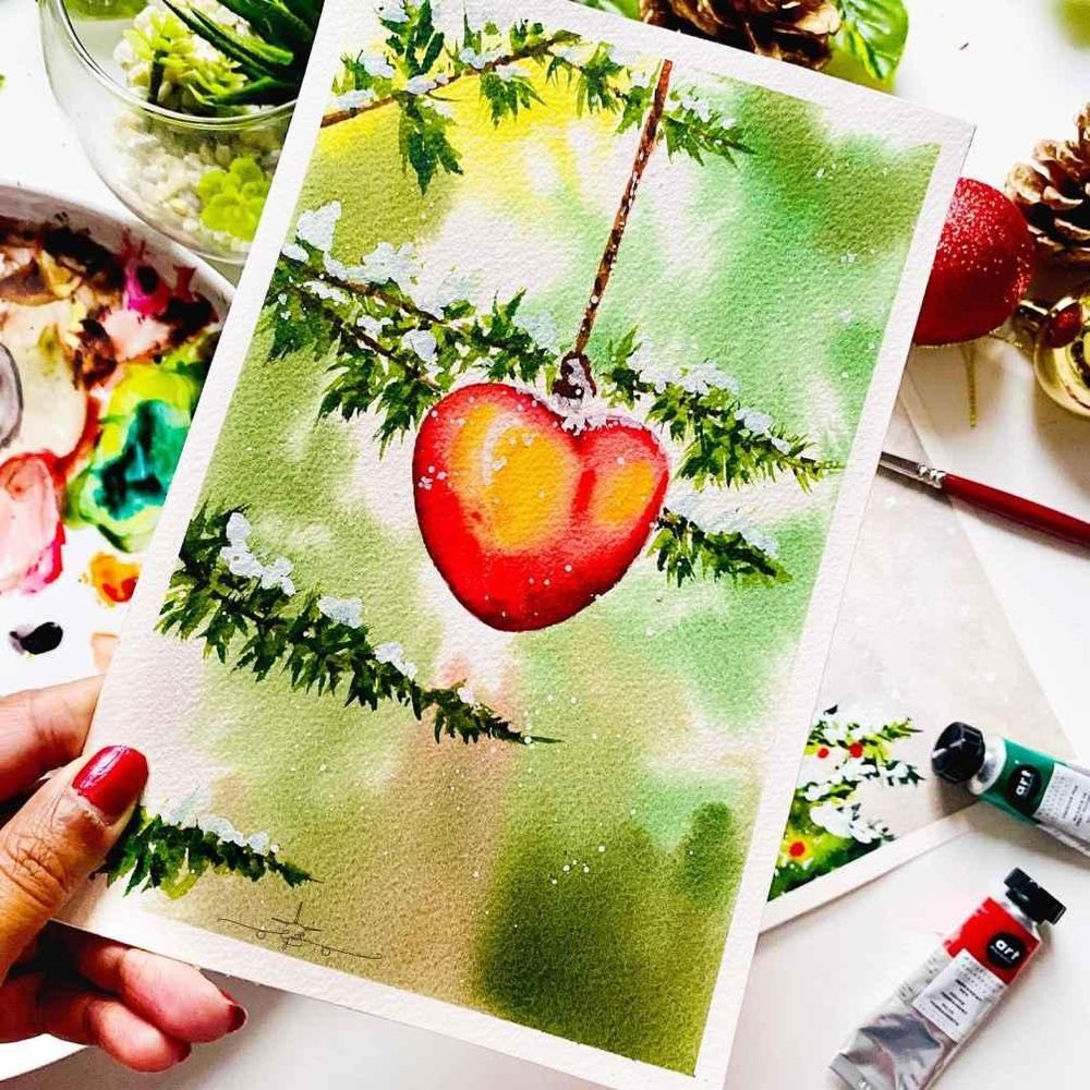 Countdown to Christmas with Watercolours - image 2 - student project
