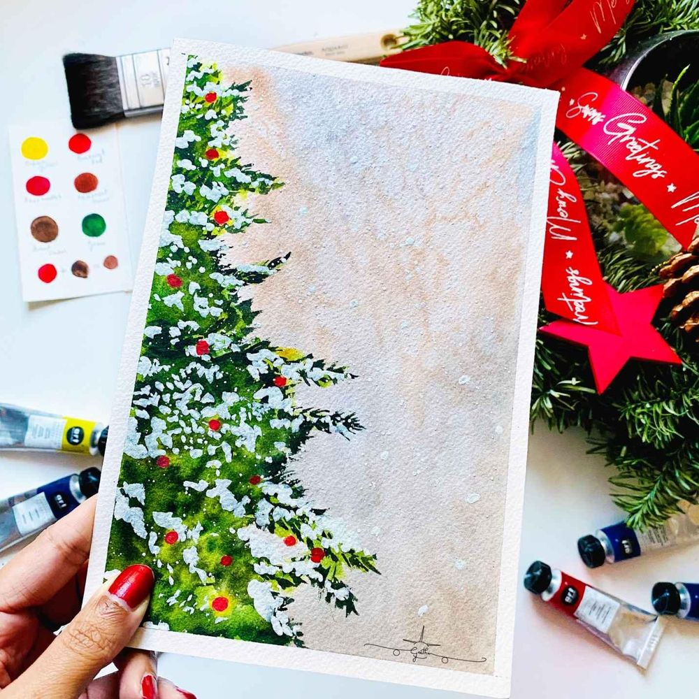 Countdown to Christmas with Watercolours - image 1 - student project