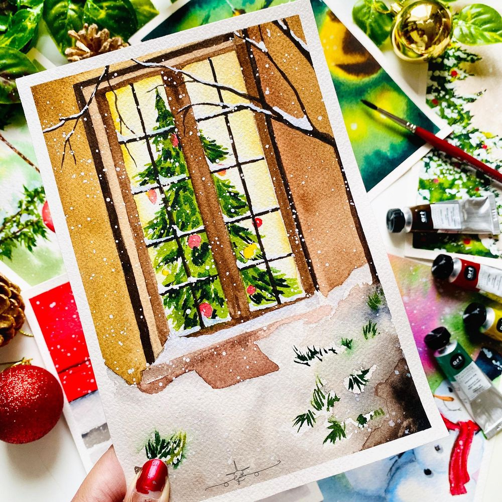 Countdown to Christmas with Watercolours - image 7 - student project