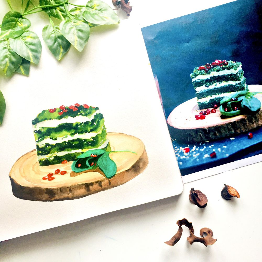 Food Illustration From Picture - image 4 - student project