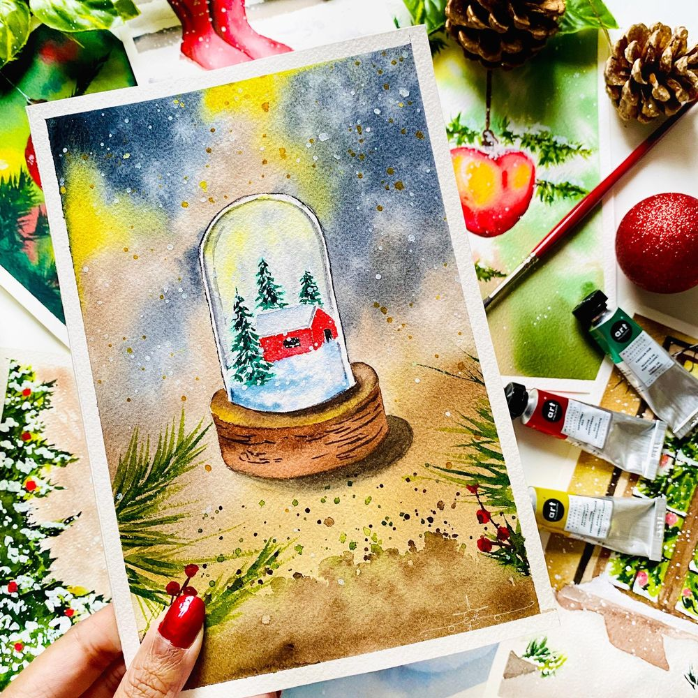 Countdown to Christmas with Watercolours - image 8 - student project