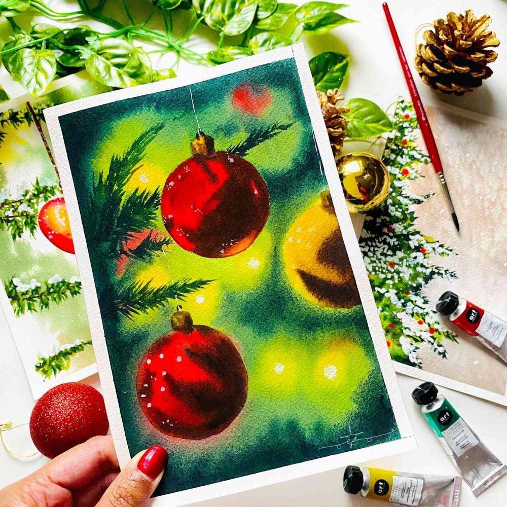 Countdown to Christmas with Watercolours - image 3 - student project