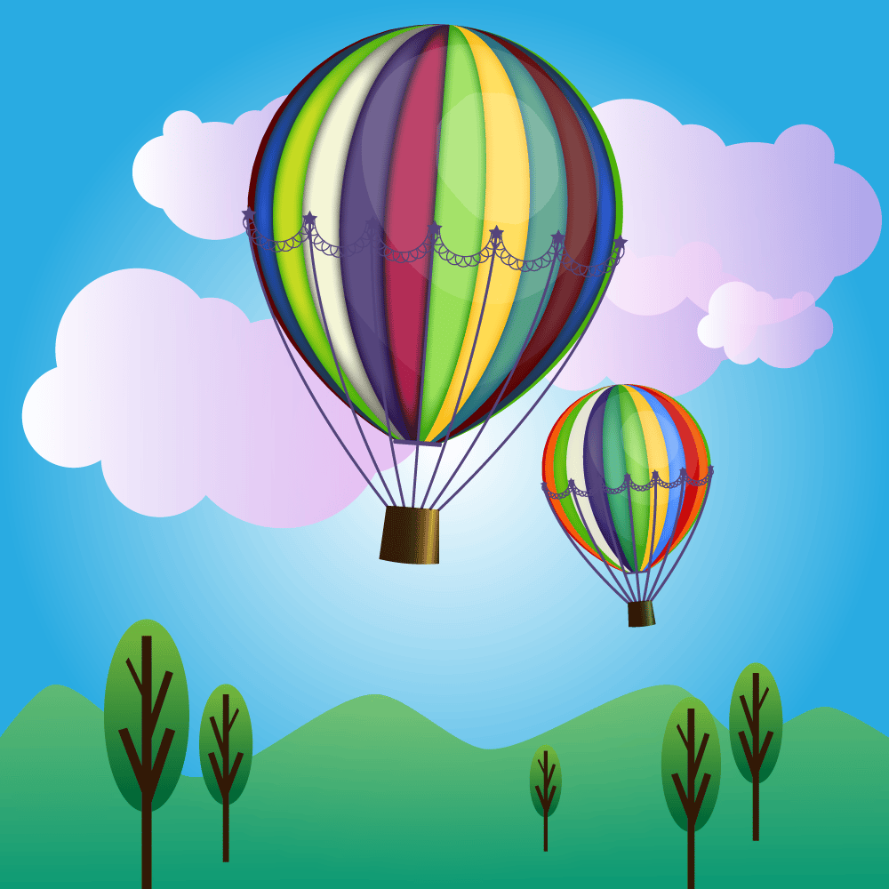 Hot air baloon - image 1 - student project