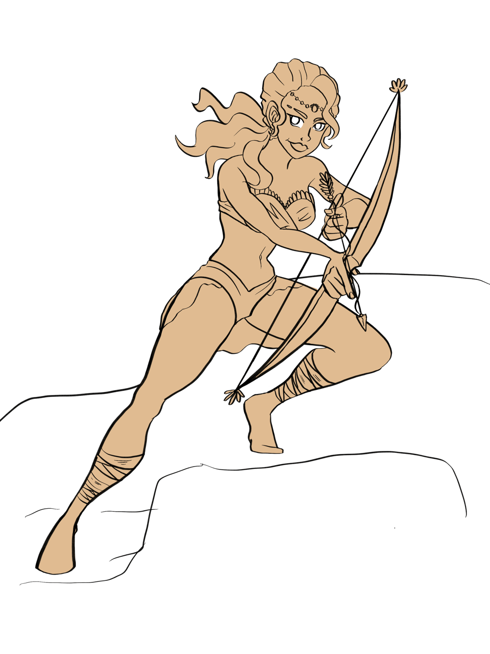 Character illustration Archer - image 2 - student project
