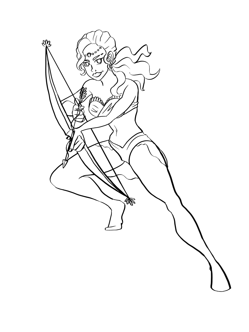 Character illustration Archer - image 1 - student project