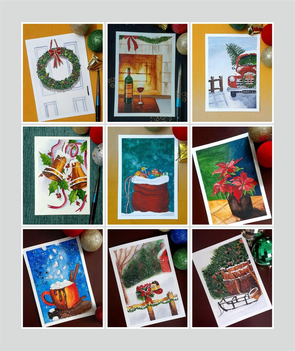 Countdown to Christmas with 24 Beautiful Paintings - image 3 - student project