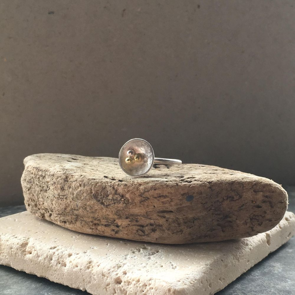 Flower (not stud earrings) ring - image 1 - student project