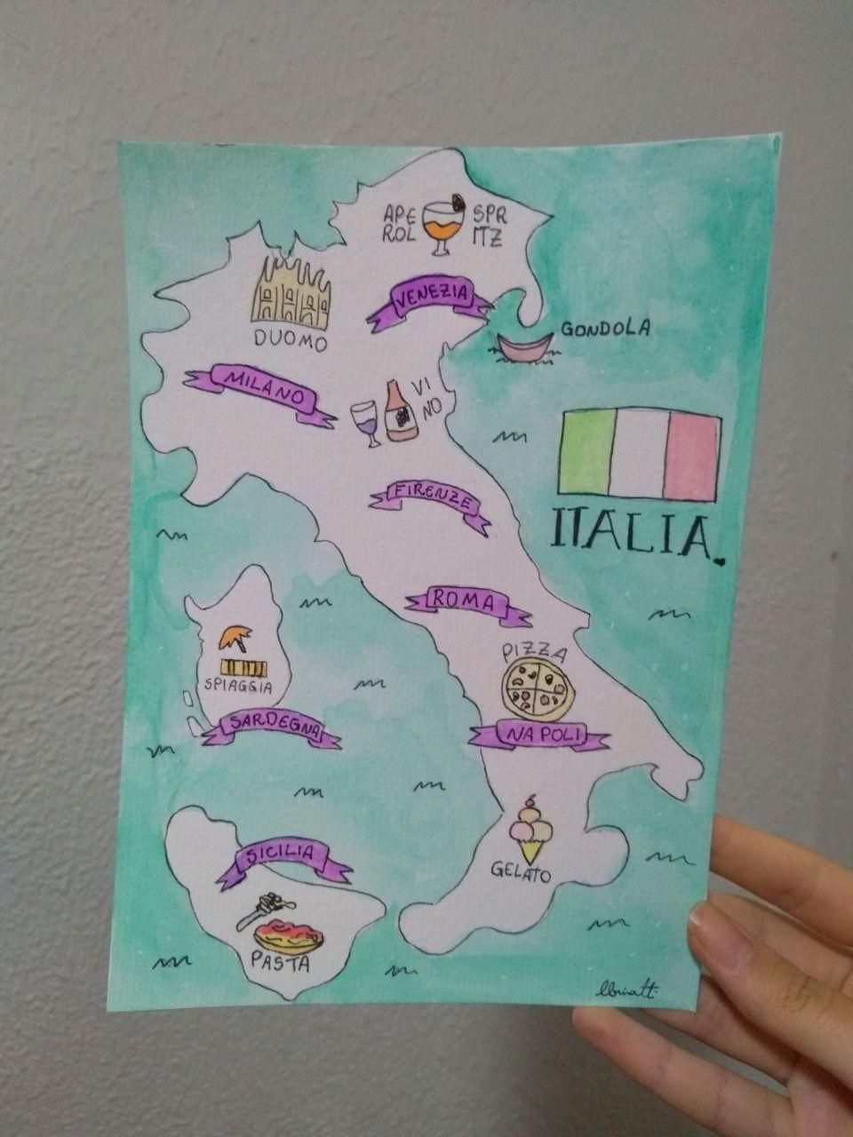 Italy Map - image 1 - student project