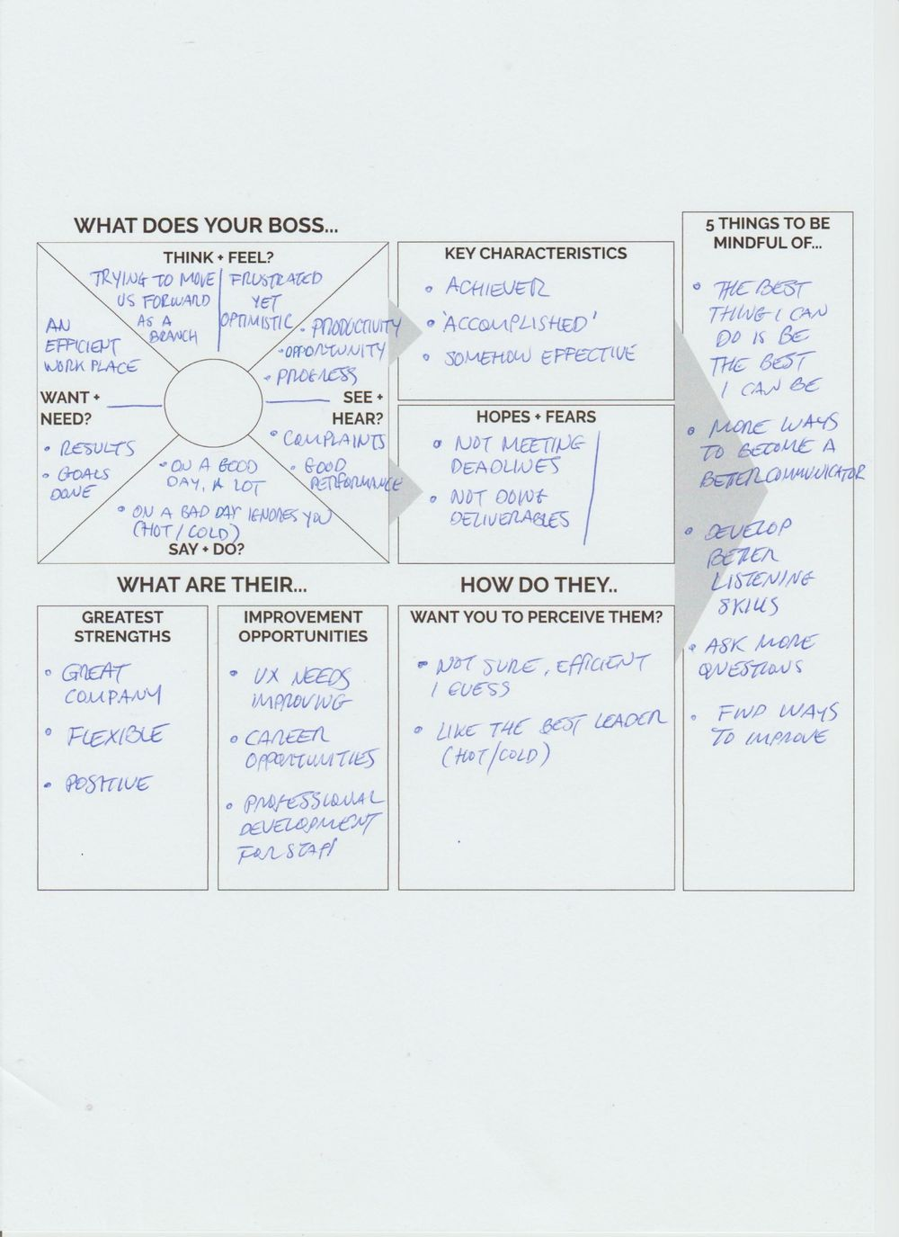 Career Development: Creating an Action Plan with Design Thinking - image 2 - student project