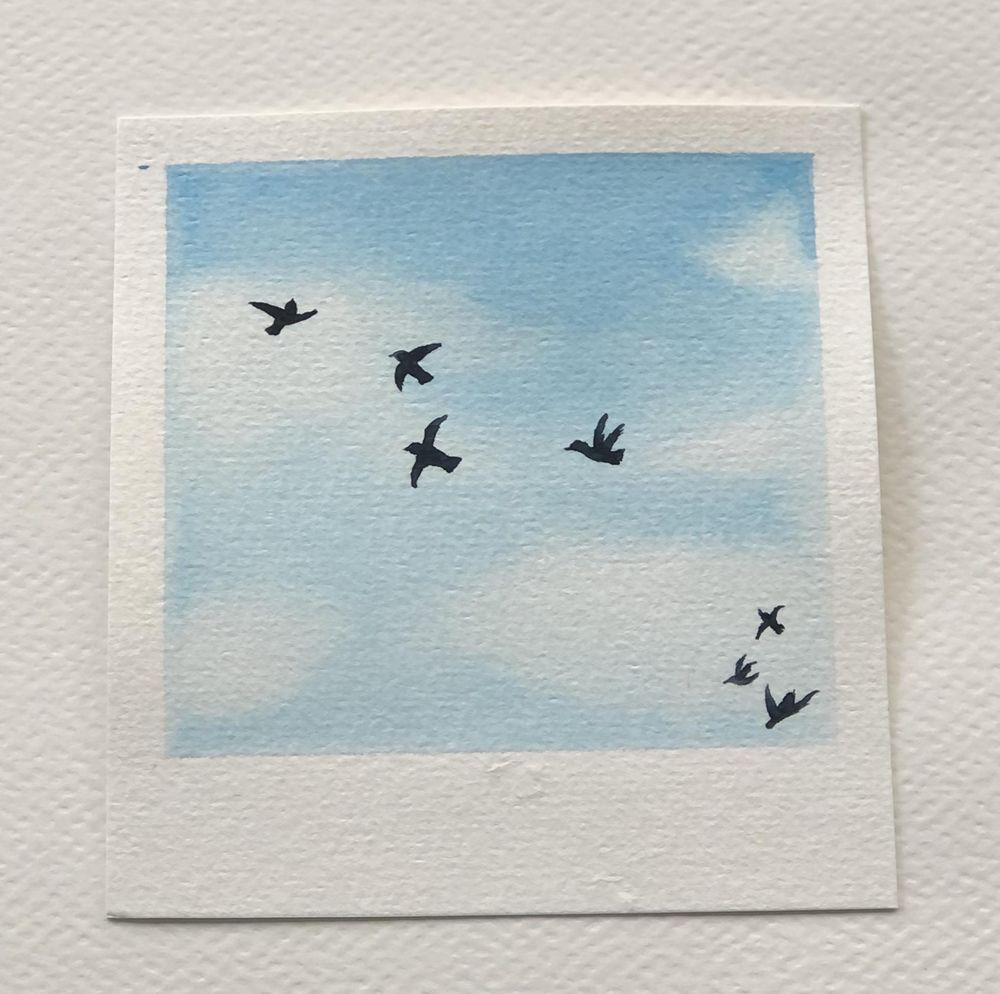 Relaxing Watercolour Projects for Beginners: Simple Skies & Silhouettes - image 5 - student project