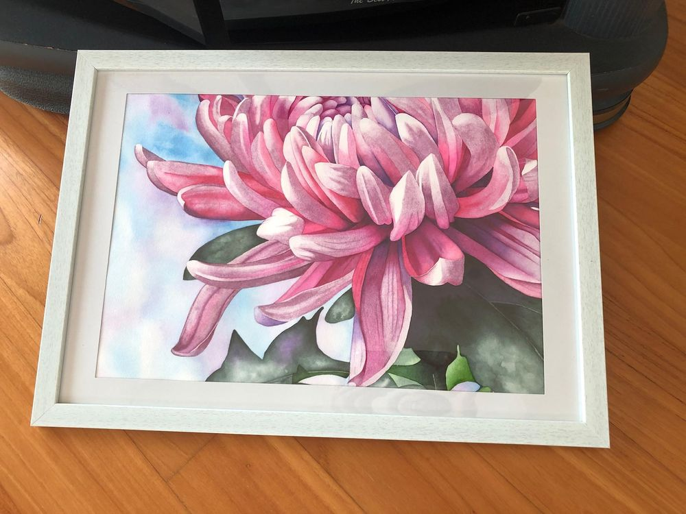Master Watercolor Techniques: Paint a Watercolor Chrysanthemum - image 3 - student project