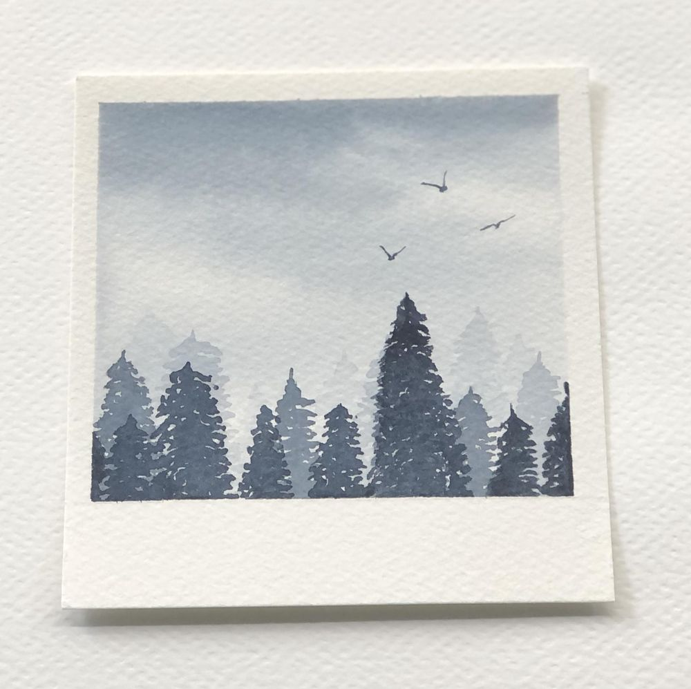 Relaxing Watercolour Projects for Beginners: Simple Skies & Silhouettes - image 3 - student project