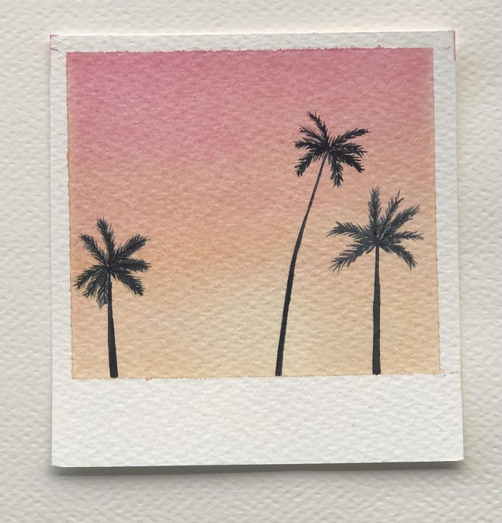 Relaxing Watercolour Projects for Beginners: Simple Skies & Silhouettes - image 6 - student project