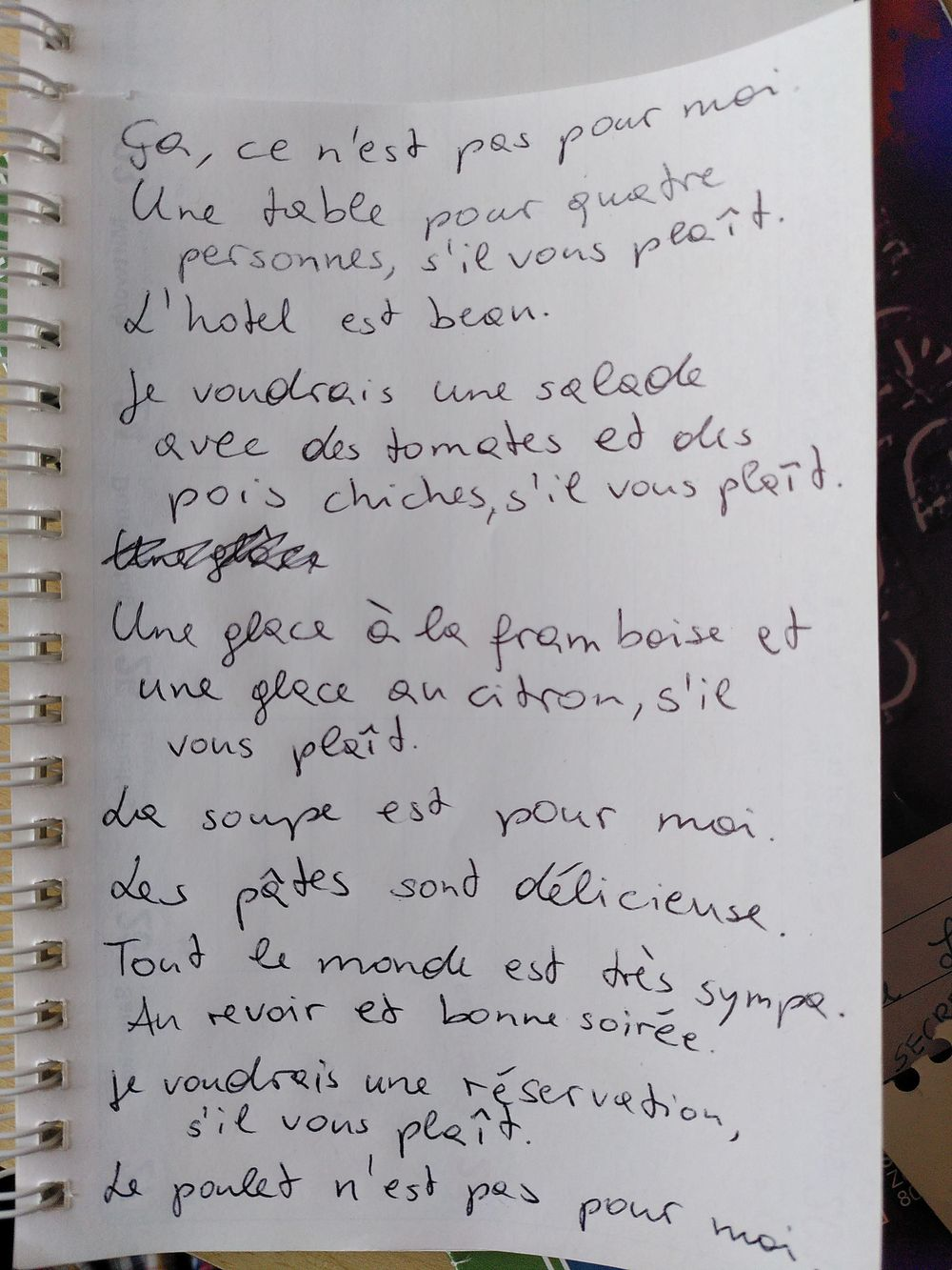 Mes phrases francaises - image 1 - student project
