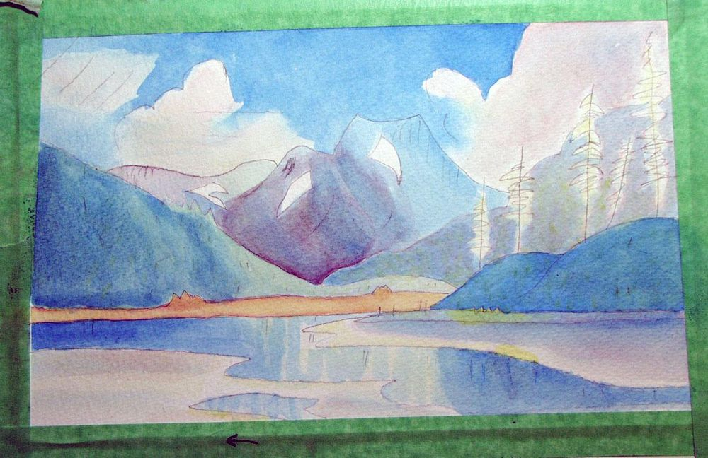 First Landscape in Watercolor - image 6 - student project
