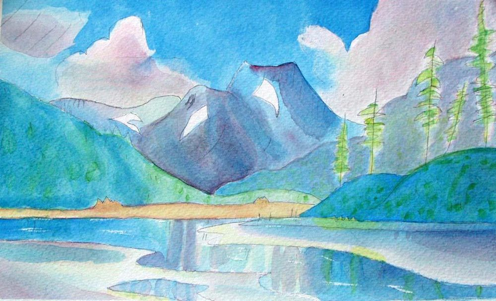 First Landscape in Watercolor - image 7 - student project