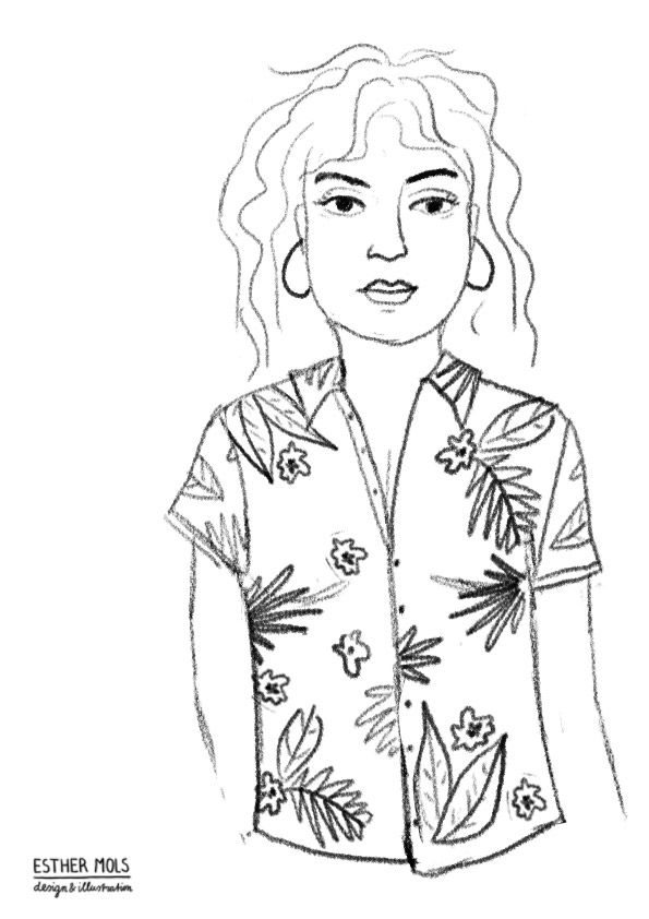 Girl with red shirt - image 1 - student project