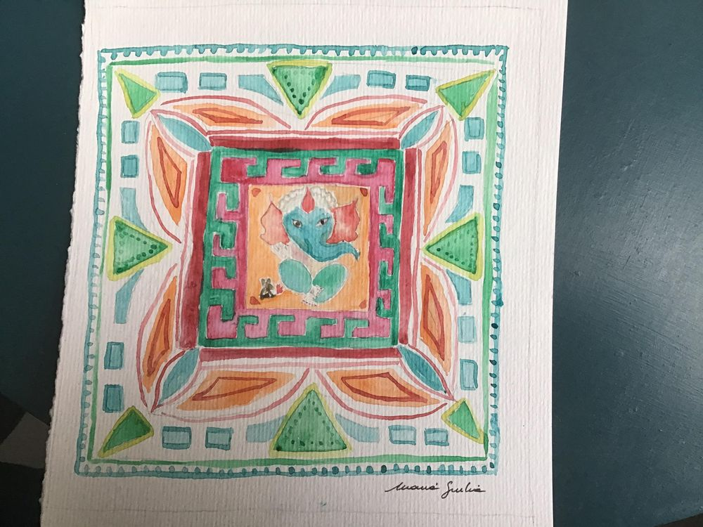 Mandala & Ganesh - image 1 - student project