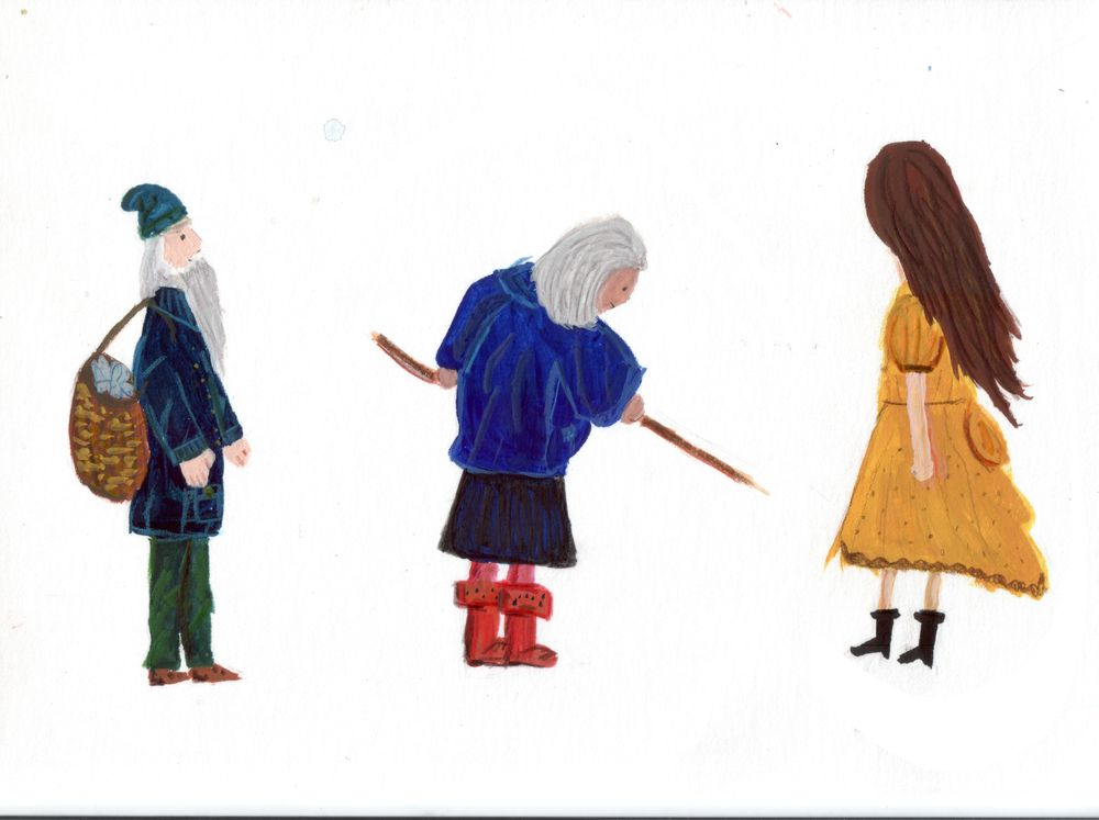 Gouache Characters - image 1 - student project
