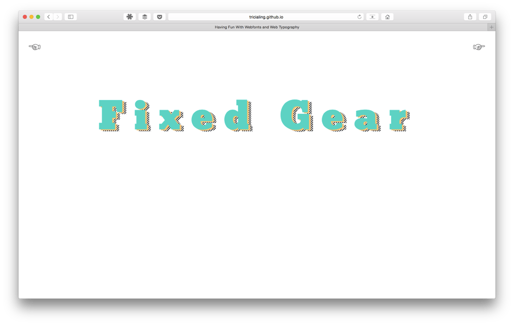 Playing with Bikebook typography  - image 4 - student project